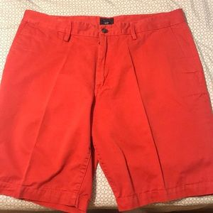 red khaki shorts
